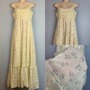 Floral Calico Cotton Sun Dress Maxi Dress Prairie